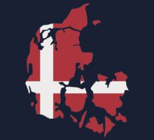 Denmark map flag by Designzz