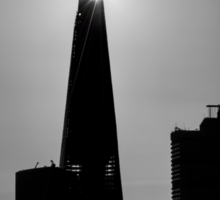 The Shard With The Morning Sun Sticker