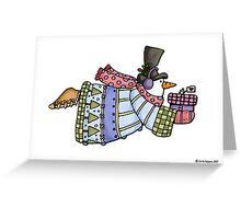 flying snowman Greeting Card
