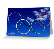 Olympic Rings at Squaw Valley, Ca. Greeting Card