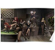 League of Legends - Girls Harem Poster