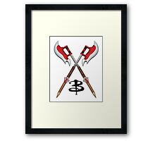Buffy -- Scythes Crossed Framed Print