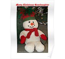Merry Christmas Grandaughter Poster