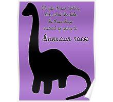 Dinosaur Races Poster
