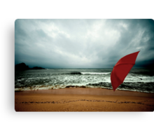 Red Umbrella II Canvas Print