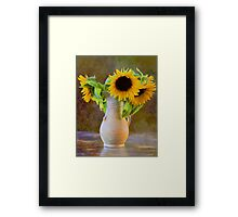 It's What Sunflowers Do - Flower Art Framed Print