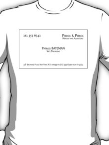 Patrick Bateman Business Card T-Shirt