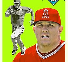 Mike Trout Baseball Card by BeinkVin