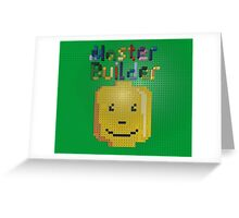Lego Master Builder for Kids and Kids at Heart Greeting Card