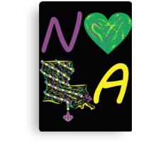 I heart NOLA (Mardi Gras) Canvas Print