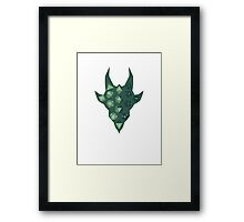Dice Dragon - Green Framed Print