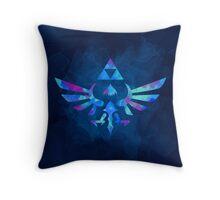 Skyward Sword Paint Blue Throw Pillow