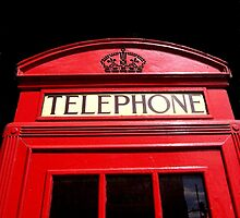 Red London Telephone Box by EricHands