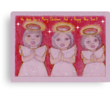Three little Xmas Angels, Lili, Belle and Karla. Canvas Print