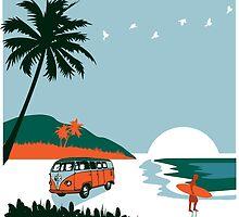 HAWAII SURF by MandNdesign