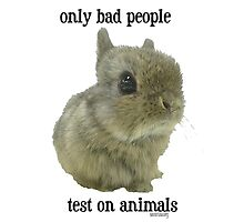 only bad People Test on Animals Photographic Print