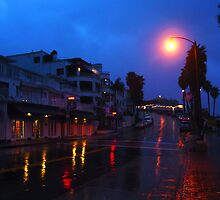Rainy Night in a Beach Town by Barbara Gordon