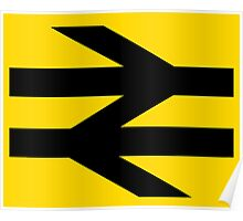 British Rail Arrows - Black Poster