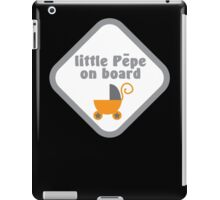 Little pepe on board (kiwi name for baby in Maori language) iPad Case/Skin