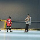 Matt Celebrates by Lilydale Rats Inline Hockey Club