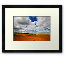 Between sky and hearth Framed Print
