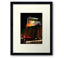 Vegas Volcano Framed Print