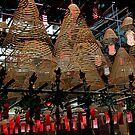 Hong Kong - Man Mo Temple Lanterns by sparrowhawk