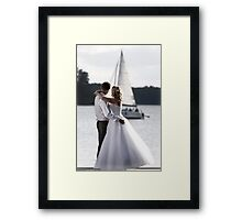 Wedding open air portrait Framed Print