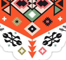 Pattern in native american style Sticker