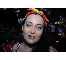 Rainbow Lips Photographic Print
