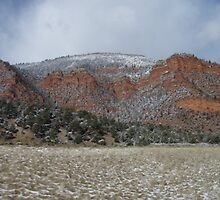 Snow Dusting Of Colorado by claidissa