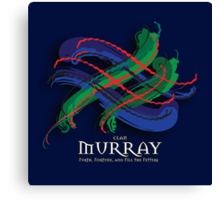 Murray Tartan Twist Canvas Print