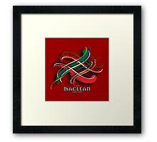 MacLean Tartan Twist Framed Print