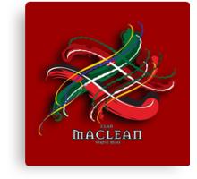 MacLean Tartan Twist Canvas Print