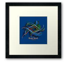 MacRae Tartan Twist Framed Print
