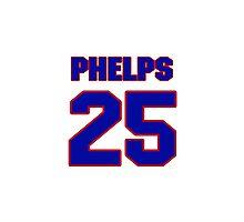 Basketball player Michael Phelps jersey 25 Photographic Print