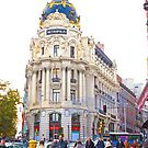 the most beautiful building in Gran Via. Madrid. by terezadelpilar~ art & architecture