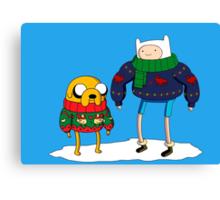 adventure time - Christmas Canvas Print