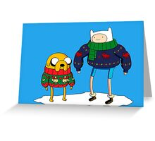 adventure time - Christmas Greeting Card