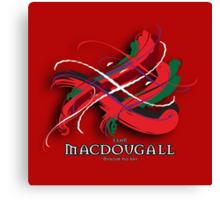 MacDougall Tartan Twist Canvas Print
