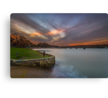Fishbourne Sunset Canvas Print