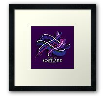 Pride of Scotland Tartan Twist Framed Print