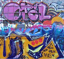 Graffiti in Freetown Christiania Copenhagen Denmark by Ron Zmiri