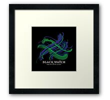 Black Watch Tartan Twist Framed Print