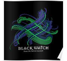 Black Watch Tartan Twist Poster