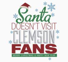 Santa Doesen't Visit Clemson Fans Kids Clothes