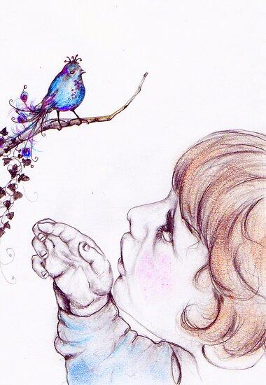 Child's eyes see magic by Elisabete Nascimento