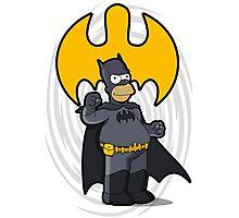 bat-homer: the Simpsons superheroes Photographic Print