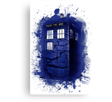 Scratch Blue Box Hoodie / T-shirt Canvas Print