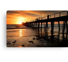 Sunset: Henley Beach Canvas Print